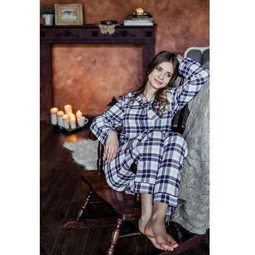 Piżama lns 417 b7 s-xl xl, wielokolorowy-kratka, key marki Key