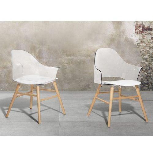 Krzesło do jadalni przezroczysto-białe BOSTON, kolor biały
