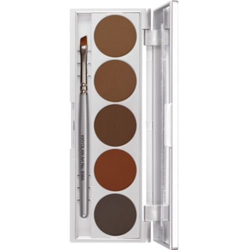 Kryolan eyebrow powder palette 5 colors paleta prasowanych pudrów do brwi (5355)