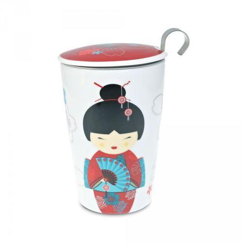 Eigenart kubek z zaparzaczem TeaEve Little Geisha Red 350 ml, 2874