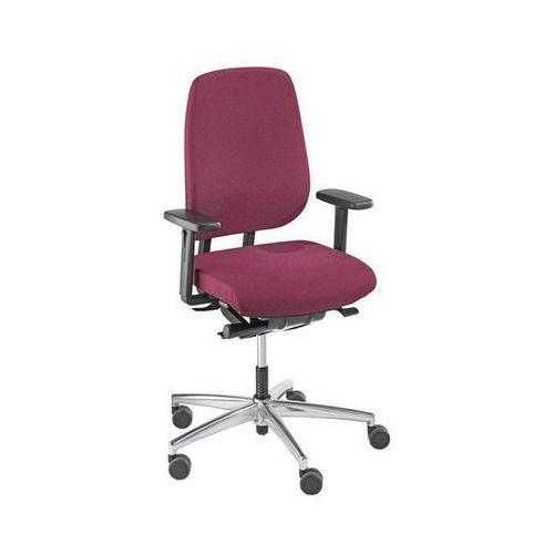 Krzesło dla operatora, mechanizm synchroniczny, siedzisko przesuwne, wys. oparci