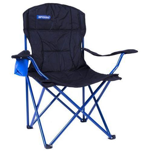 Krzesło turystyczne angler de luxe czarno-niebieski marki Spokey