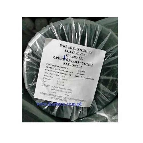 Wkład odzieżowy elastyczny e 420/150 czarny 100 mb. zamiennik dla e 4270/150 czarnego marki Vateks