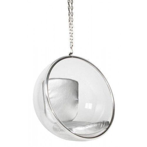 Fotel Ball wiszący srebrny
