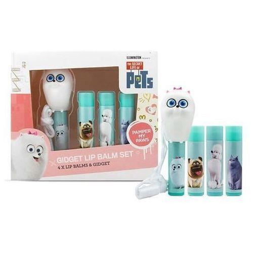 The Secret Life Of Pets Lip Balm zestaw balsam do ust 4sz + Gidget
