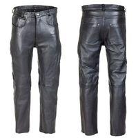 Męskie skórzane spodnie motocyklowe roster nf-1250, czarny, 36, W-tec
