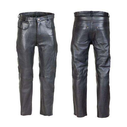 Męskie skórzane spodnie motocyklowe roster nf-1250, czarny, 34 marki W-tec