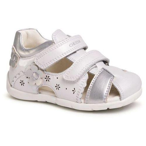 Sandały GEOX - B Kaytan G. A B0251A 044AJ C0007 White/Silver, kolor biały