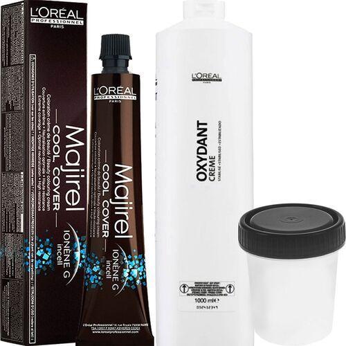 cool cover farba zimne odcienie chłodnych blondów 50ml + oxydant 75ml 4 brąz 6 % - 20 vol. marki Loreal