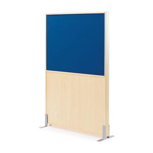 Aj produkty Ścianka działowa duo, 1000x1500 mm, brzoza, niebieska tkanina
