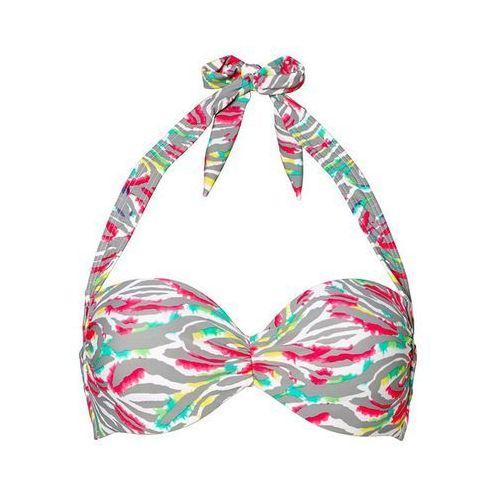 Bonprix Biustonosz bikini na fiszbinach  szary z nadrukiem