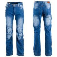 Męskie jeansowe spodnie motocyklowe shiquet, niebieski, s marki W-tec