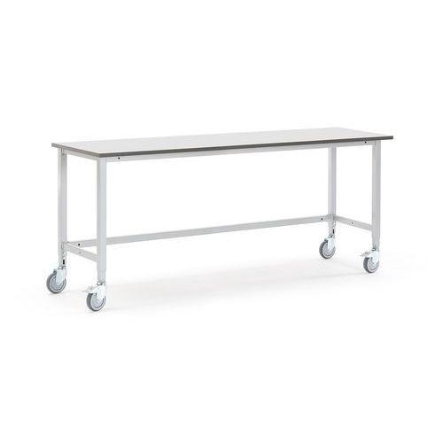 Mobilny stół roboczy MOTION, 2000x600 mm