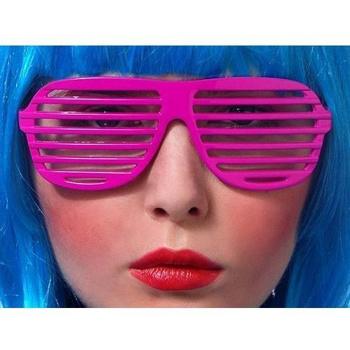 Okulary disco żaluzje różowe marki Twojestroje.pl