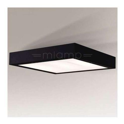 Plafon LAMPA sufitowa NOMI 8024/2G11/CZ Shilo kwadratowa OPRAWA minimalistyczna do łazienki IP44 czarna
