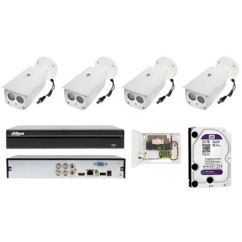 Monitoring domu na 4 kamery tubowe full hd z zasięgiem 50 metrów marki Dahua