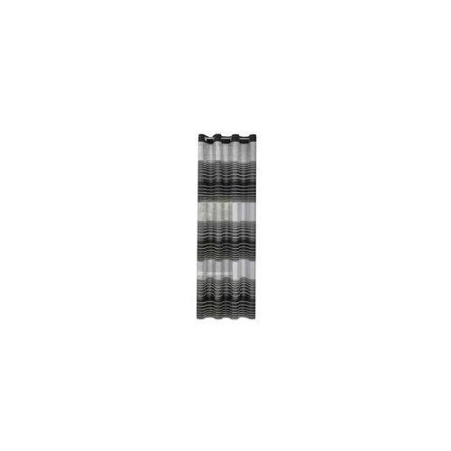 Zasłona Dekoracyjna Eurofirany Erin Czarny Szary Pasy 140x250 140x250