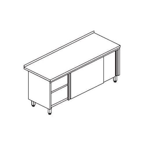 Edenox Stół przyścienny z szafką ze stali aisi-304 2000x600x850 mm | , e4215-206
