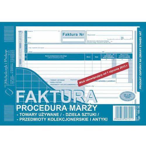 Faktura procedura marży - przedmioty kolekcionerskie i antyki, (O+1K) A5 - G1393, NB-2487