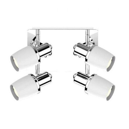 Zuma line poso ck180610-4 plafon lampa sufitowa 4x40w e14 biały/chrom (2011006536279)