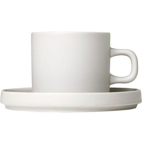Blomus Filiżanki do kawy ze spodkami mio księżycowa biel, 2 zestawy (b63907)