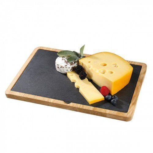 formaggio talerz do serwowania sera z dębową podkładką, łupek marki Cilio