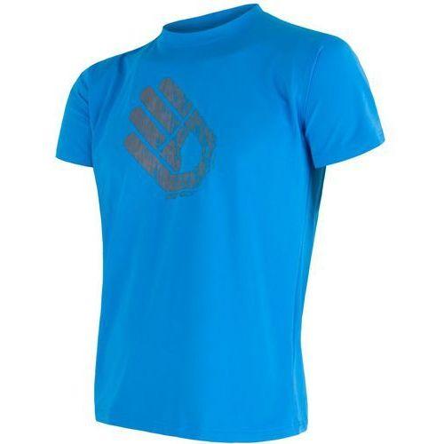 Sensor męska koszulka coolmax fresh pt hand blue l