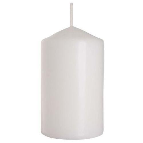 Bispol, sw60/100, świeca walec, biała, 6x10cm, 1 sztuka