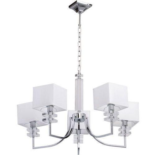 Mw-light Lampa wisząca białe, kwadratowe klosze - 5 żarówek megapolis (101010305)