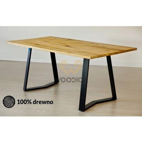 Stół dębowy na metalowych nogach 12 120x75x80 marki Woodica
