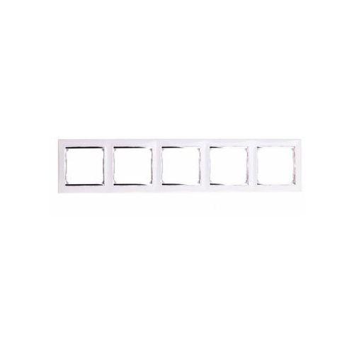 Ramka pięciokrotna Legrand Valena770495 pozioma biała / srebrna