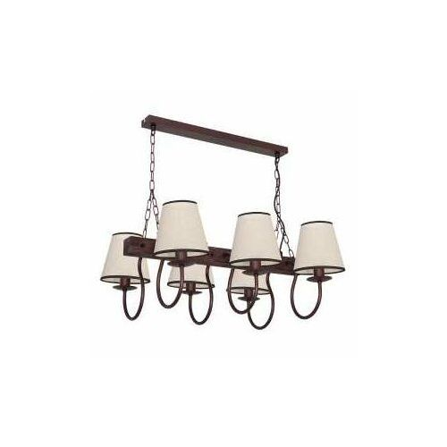 Lampa wisząca Luminex Carin 8695 lampa sufitowa 6x60W E14 brąz / beż