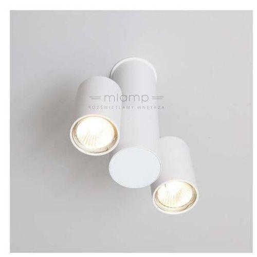 Lampa sufitowa shima 2244-b/gu10/bi metalowa oprawa reflektorowa tuba biała marki Shilo