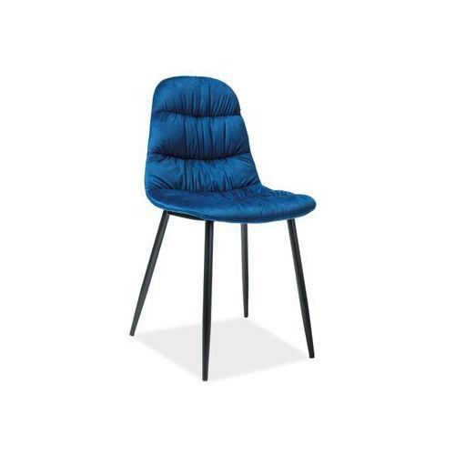 Krzesło - vedis granatowy aksamit marki Signal