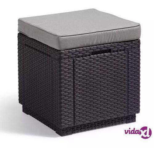 Stolik z siedziskiem i schowkiem 3w1 (grafitowo-jasnoszary) Cube Keter
