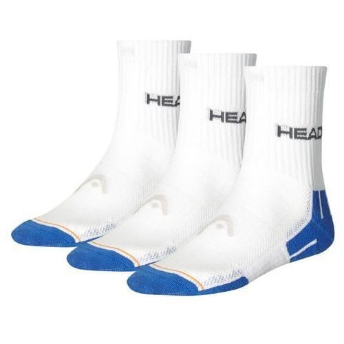 Head Performance Short Crew - 3 pary white/blue