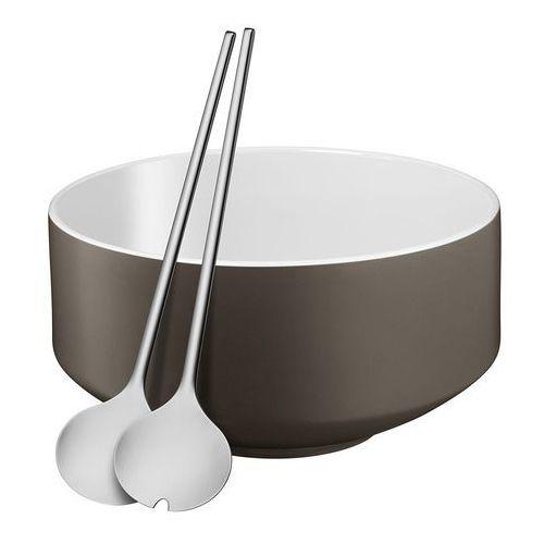 Wmf - zestaw do sałatek: miska+sztućce, szary (4000530680730)