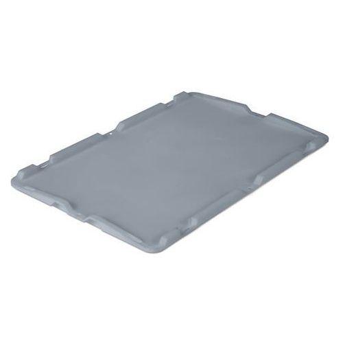 Pokrywa z polipropylenu, dł. x szer. 600x400 mm, do 40, 60 i 80 l, szary.