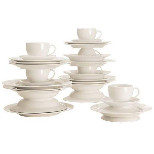 Maxwell & williams - basics round - zestaw obiadowo - kawowy na 6 osób (9315121662374)