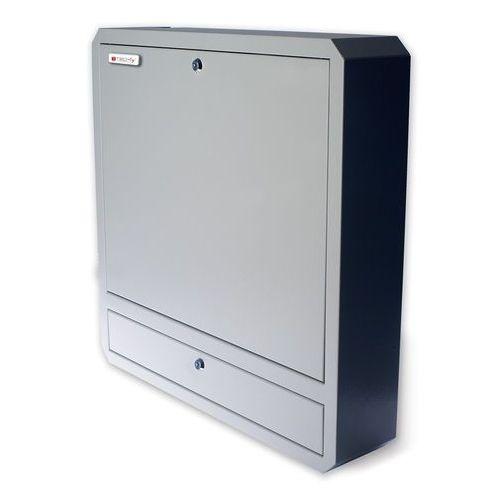 Techly ścienna szafka zabezpieczająca do notebooka, z półką i zamkiem (026845) darmowy odbiór w 21 miastach! (8054529026845)
