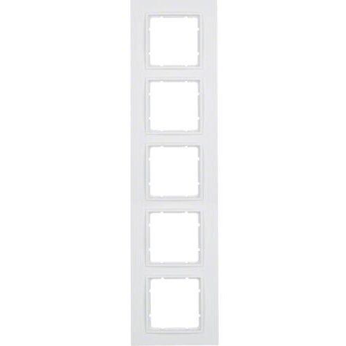 BERKER B.7 Ramka 5-krotna, biały, mat 10156919 (4011334376651)