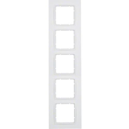 Berker b.7 ramka 5-krotna, biały, mat 10156919