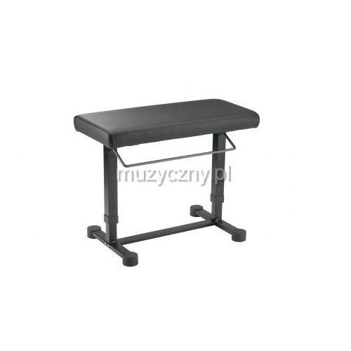 K&M 14080 ława do fortepianu, hydrauliczna, obicie: imitacja czarnej skóry