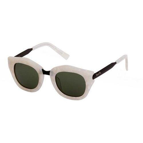 Okulary Słoneczne Spektre Mon Amour MA04B/M.Pearl/Black/Black (Deep Green), kolor zielony