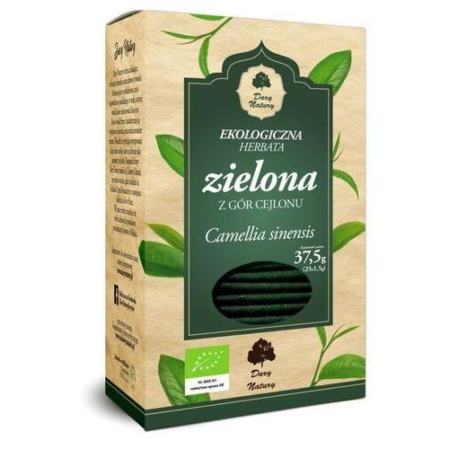 Herbata Zielona liściasta cejlońska fix BIO 25*1,5g DARY NATURY, 34ANGZIELI