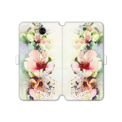 Huawei Y5 (2017) - etui na telefon Wallet Book Fantastic - róże herbaciane, ETHW523WBFCFB004000