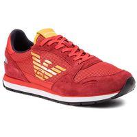 Sneakersy - x4x215 xl693 a038 scarlet/lava/lava marki Emporio armani