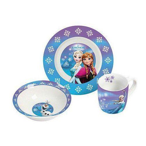 Disney 12788 Frozen zestaw naczyń z porcelany, 22,5 x 9,5 x 19,5 cm, 3 części (4051112127884)