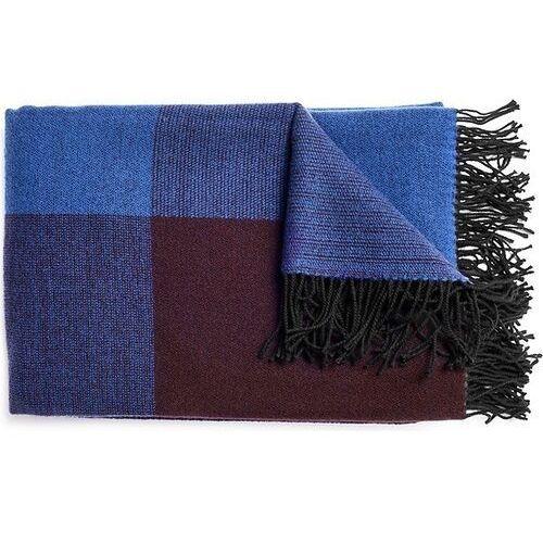 Pled blend throw niebiesko-czarny, kolor czarny