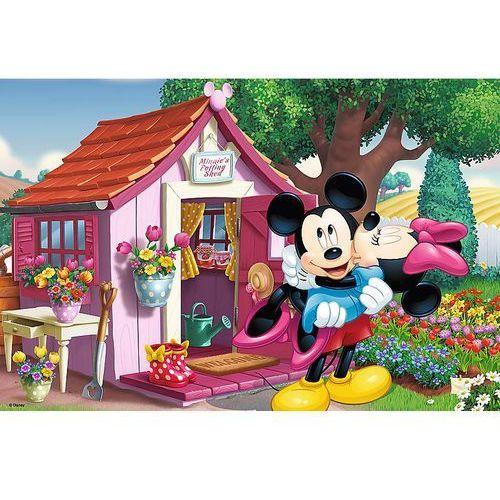Puzzle 60 miki i minnie w ogrodzie- marki Trefl